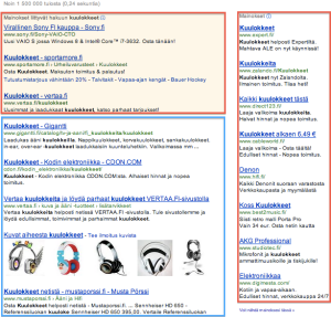 google haku kuulokkeet